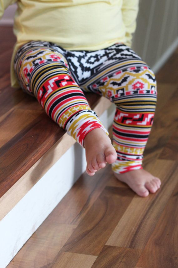 Baby tribal leggings