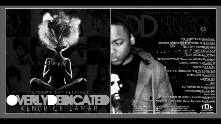 Thank goodness he blew up, all this talent wulda passed me by....Kendrick Lamar - Overly Dedicated (FULL ALBUM)