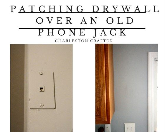 How to Patch Drywall Over and remove an Old Phone Jack - Charleston Crafted