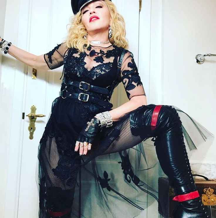 Madonna with boots