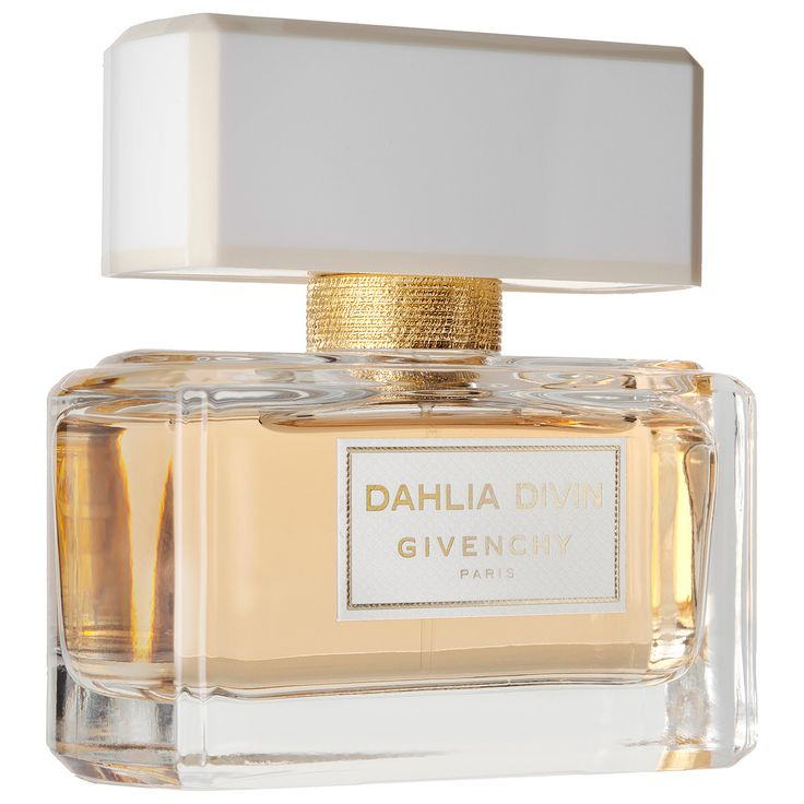 Givenchy Dahlia Divin: A timeless and quintessentially woody eau de parfum, it enchants with lush, sweet top notes that caress the senses with radiant sensuality—like a haute couture gown.   #Sephora #fragrance #perfume