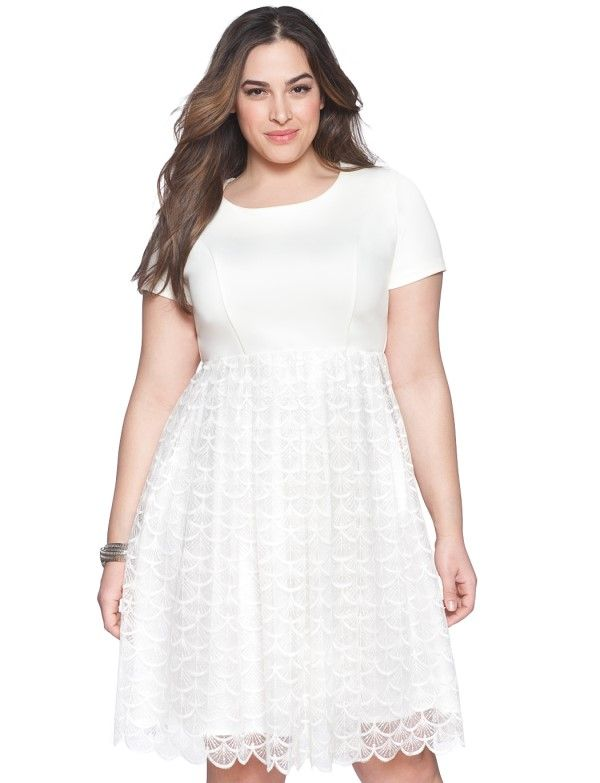 Plus size white dress for sale
