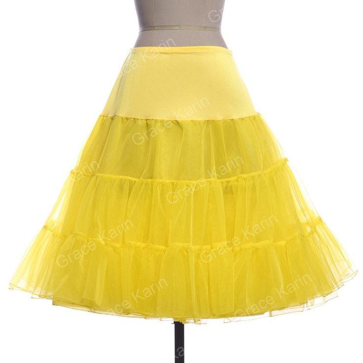 Retro Vintage Crinoline Fluffy Tutu Skirt