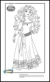 fans request disney princess with merida from brave coloring pages