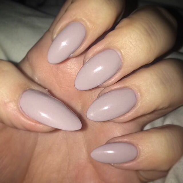 Bridal party; Something similar to this nude/grey blend for nails. Naturally long manicure...not opting for tips.
