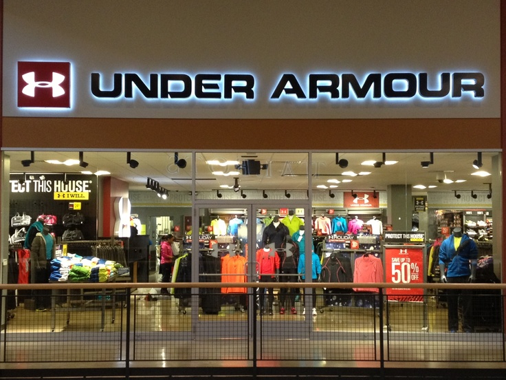 Under Armour Outlet Store -- I love Under Armour workout wear, so the outlet REALLY gets my attention with it's terrific prices on such sturdy workout wear.