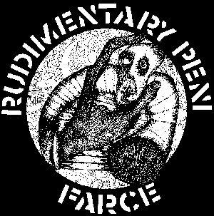 "RUDIMENTARY PENI - Farce (Crass Records 1982) 7"" single"
