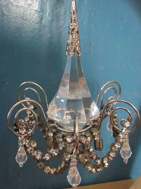 Miniature chandelier by Jocelyn in Budapest, via Flickr
