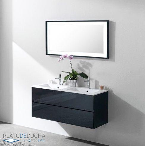 Los muebles de ba o dobles son ideales cuando se comparte - Muebles para el lavabo ...