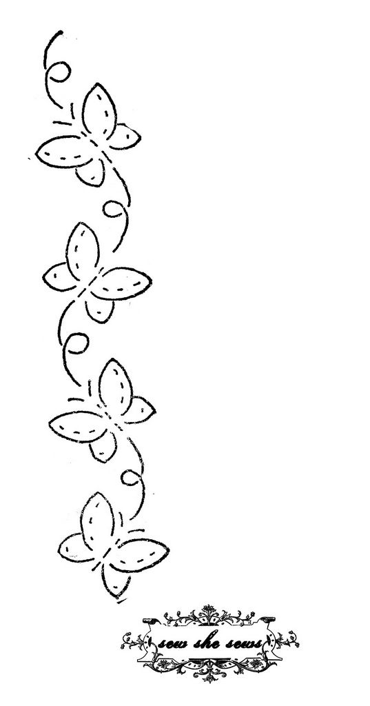 https://flic.kr/p/98LmhP | vintage butterflies embroidery pattern | For personal use.