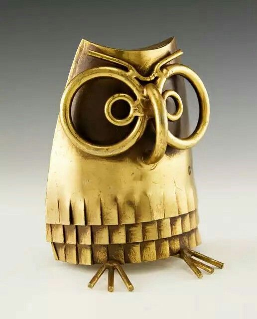 C Jere Brass Owl Bookend
