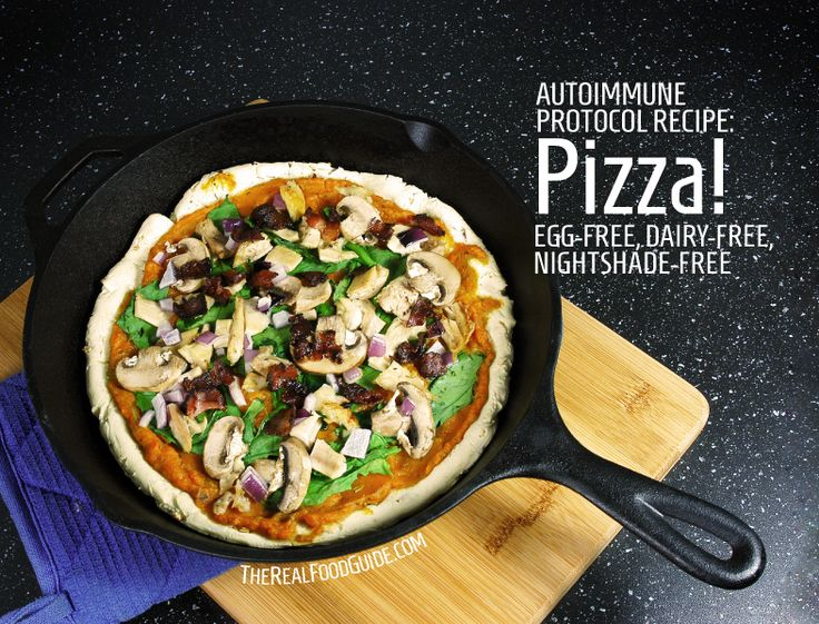 Dairy-free, nightshade-free, gluten-free pizza!