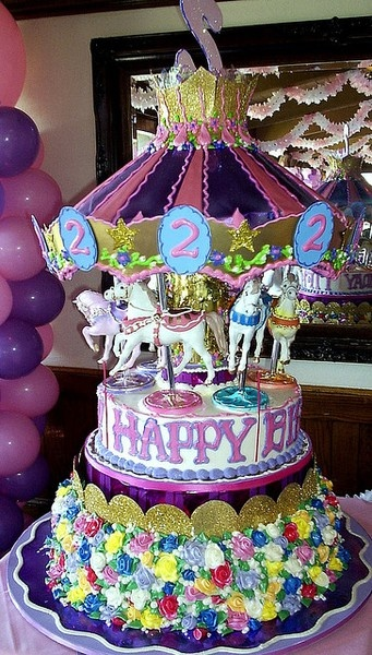 Birthday Cakes For Dogs In Houston Tx ~ Carousel horse cake kid party cakes pinterest