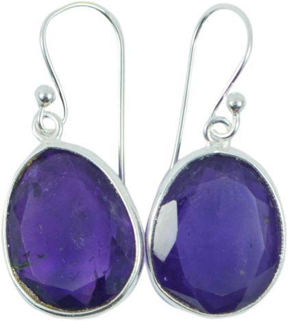 Melanie Woods World Jewellery Amethyst and sterling silver earrings