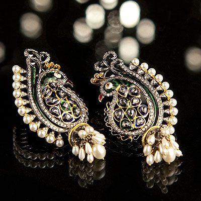 Peacock Earrings! I want!!!