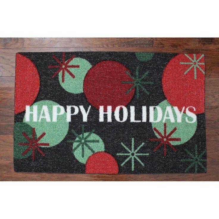 "Holiday Decor Enhance Happy Holidays Christmas Rug 20"" x 32"" Accent Rug"