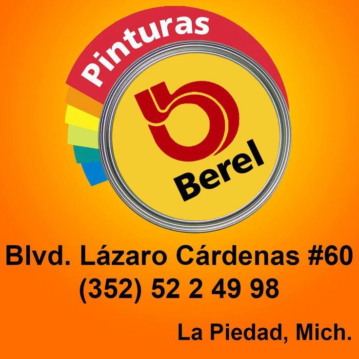 Pinturas Berel, remodela tu casa con el 5% de descuento en cualquier compra al presentar tu membresía del club. ;)   Blvd. Lázaro Cárdenas #60  Tel. 352 522 4998  www.facebook.com/pages/Pinturas-Berel/578078152271444  La Piedad, Mich.