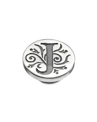 Kameleon Letter J Antiqued Silver JewelPop  Available at: www.always-forever.com