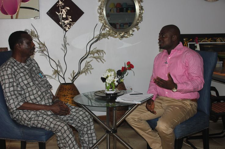 Host, Femi Ipadeola engaging with A.I,G Osanaiye(Rtd) during the interview