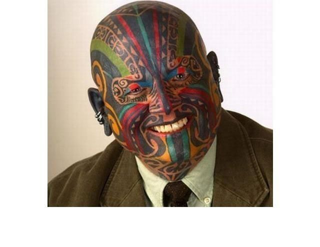 39 Tragically Bad Face Tattoos...I Can't Look Away. (Slide #4) - offbeat