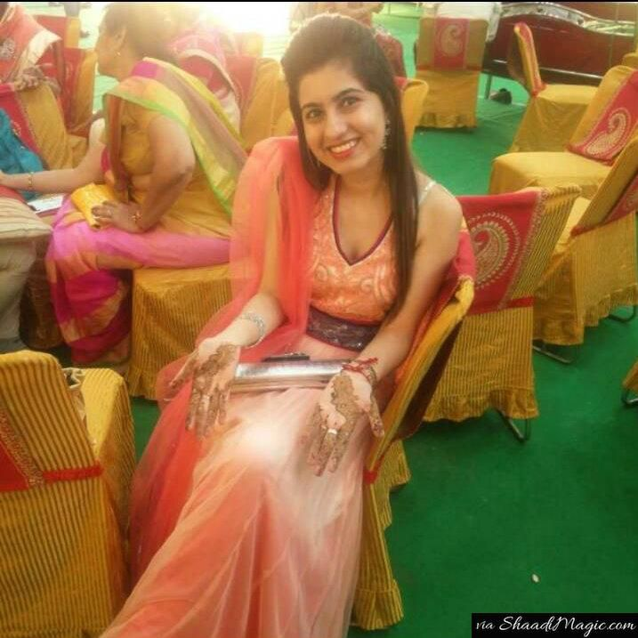 Real bride Khushboo Goel. Read her real wedding story on Shaadimagic.Com