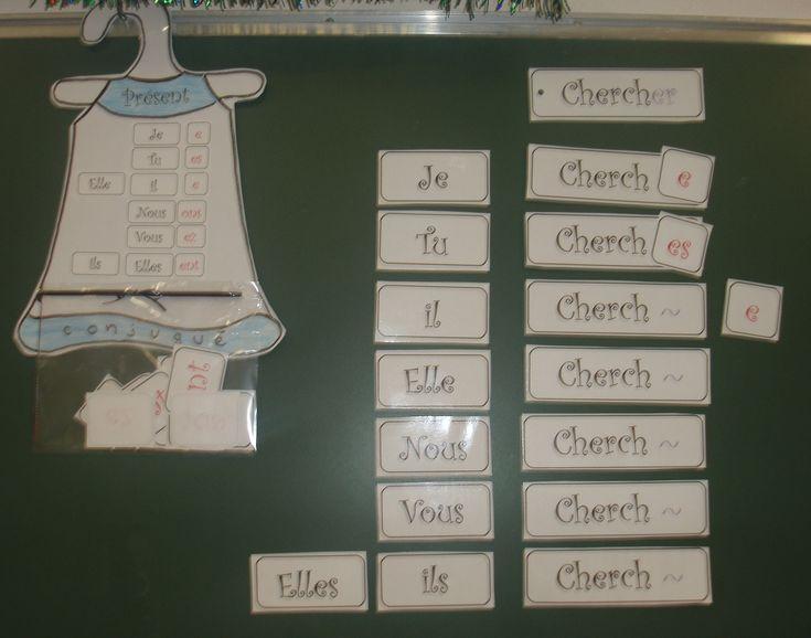 Le présent des verbes en -er - Nurvero - La vie en classe