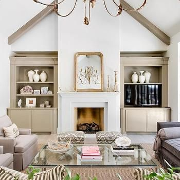 Fireplace With Built Ins And Vaulted Ceiling Elegant Living Room Boasts Vaulted Ceiling