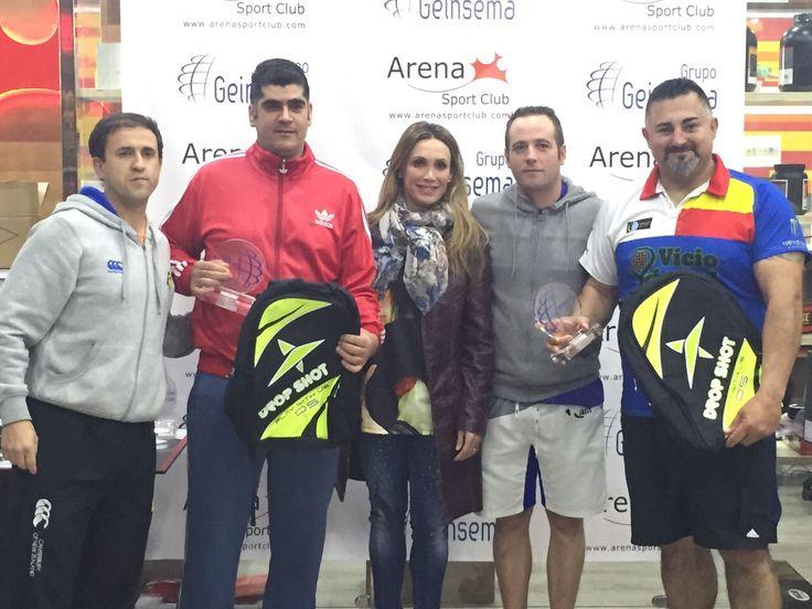 Cristina Sánchez a la finalización del Toreno de #Pádel organizado por el Grupo Geinsema junto al #ArenaSportClub