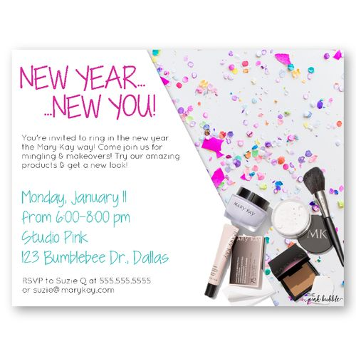 22 best mary kay invitations images on pinterest invitations new year new you makeovers with mary kay customize your postcard for the stopboris Gallery