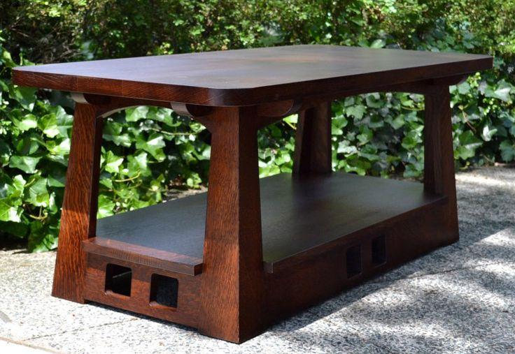 Limbert Pagoda Coffee Table - Arts & Crafts - Craftsman - Mission - Oak