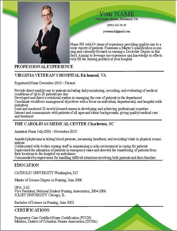 Nurse resume samples rn resume templates free   Resume Templates ...