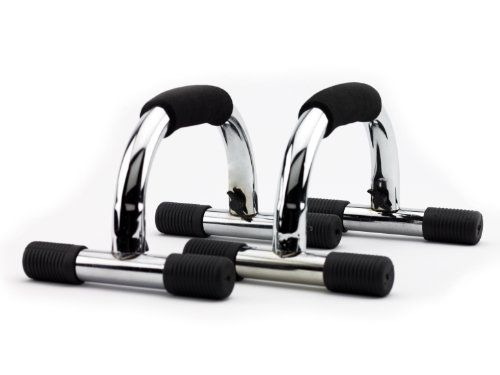Wacces Chrome Push-up Push up Stand Bar for Workout Exercise