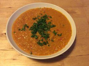 Rote Linsen-Curry-Suppe mit Kokosmilch für Faule (Rezept mit Bild) | Chefkoch.de