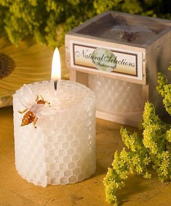 Beeswax candle wedding favor, perfect for a barn or country theme wedding. as low as 1.50 each