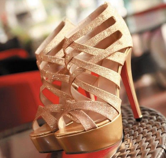 Stiletto high heels. I feel like caged sandals were so 2015...but I still like these. so cheap $115