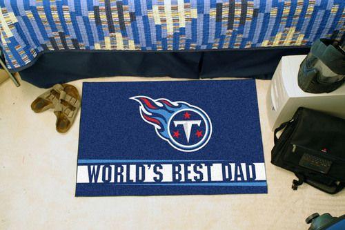 "Tennessee Titans World's Best Dad Starter Area Rug Floor Mat 20"""" X 30"""""
