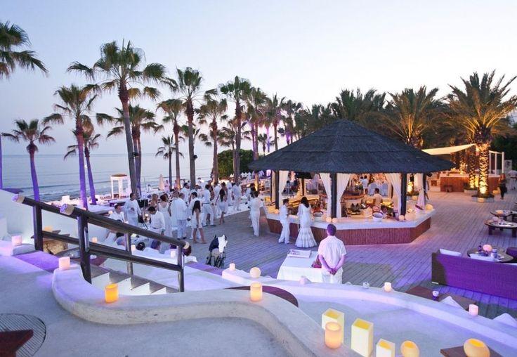 Evening setting at Nikki Beach Marbella