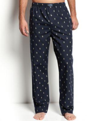 Polo Ralph Lauren Men's All Over Polo Player Pajama Pants | macys.com