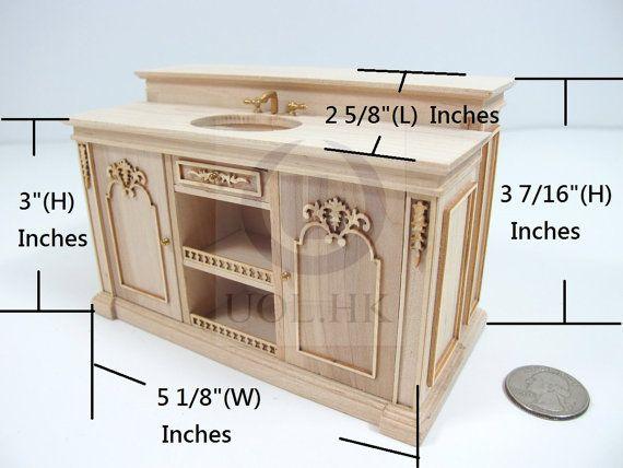 Miniature Dollhouse Furniture, 1 12 Unfinished Dollhouse Furniture