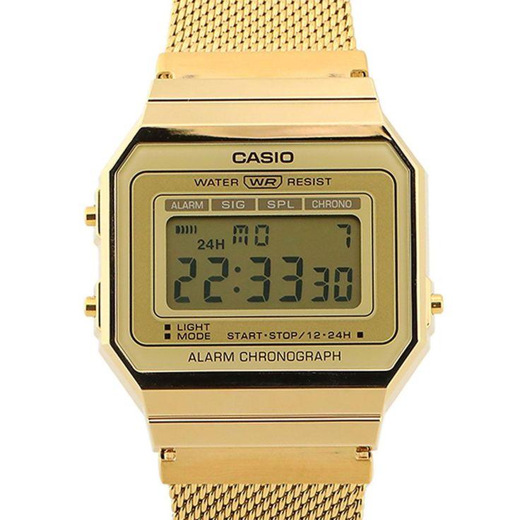 Casio Gold Vintage Unisex Watch A700wmg 9a A700wmg 9 Casio Casio Gold Unisex Watches