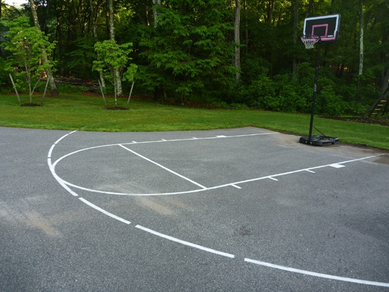 20 best images about basketball courts on pinterest home for Basketball court at home