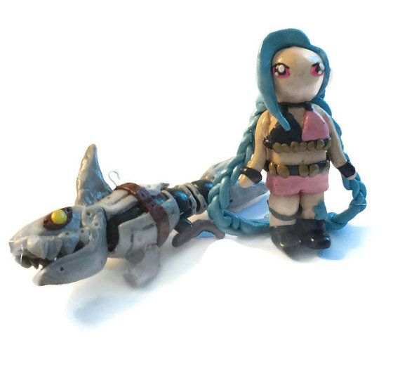 Jinx Get Jinxed  League of Legends Keychain  by AnakyasArts