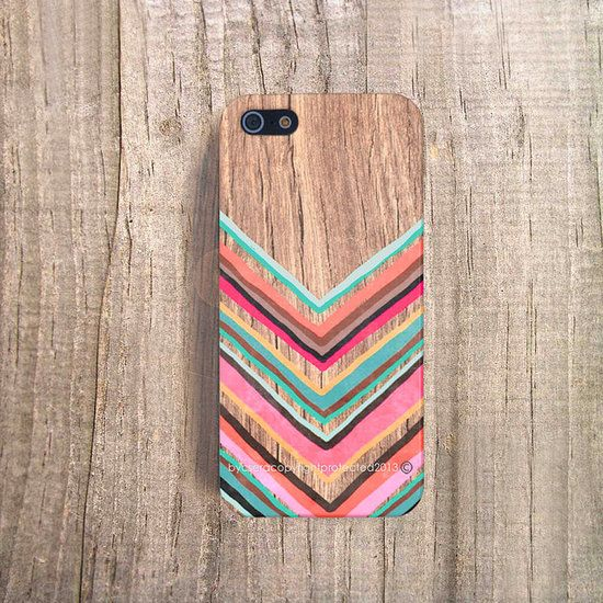 iPhone 5 Case Chevron iPhone 4 Case iPhone 5s Case Wood Print