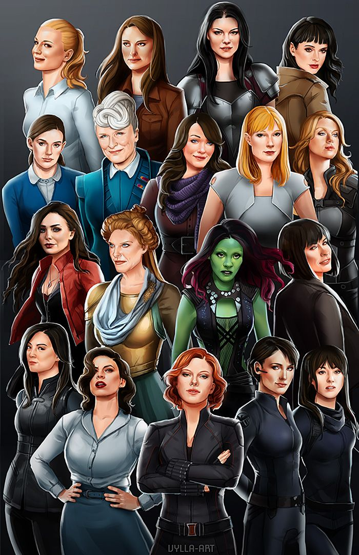 All The Girls Standing In The Line For The Bathroom: Women Of The Marvel Cinematic Universe Poster Http