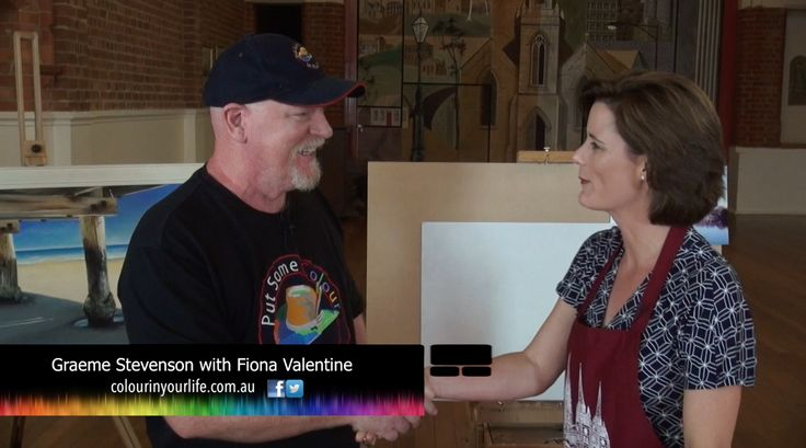 Graeme Stevenson and Fiona Valentine on an episode of Colour In Your Life