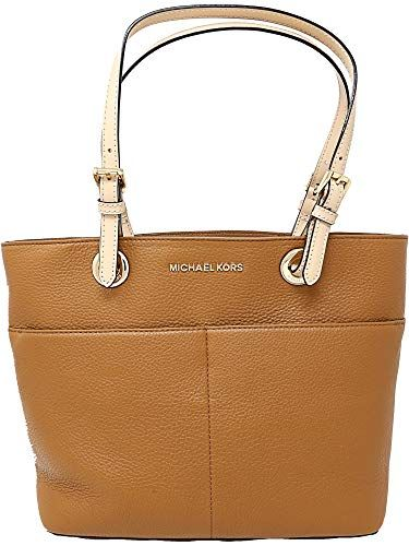 693711e1a7e855 Michael Kors Women's Bedford Leather Top-Handle Bag Tote- Acorn ...