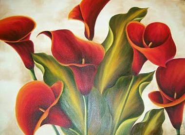 162 best Calas images on Pinterest  Flower art Oil paintings and