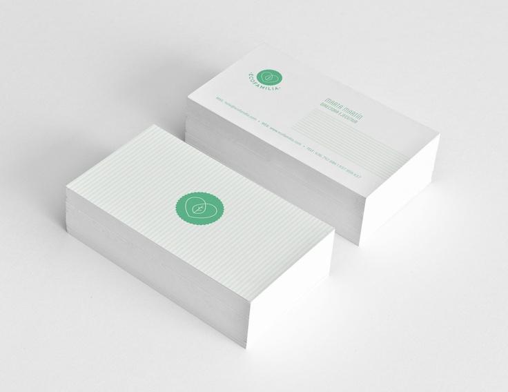 Graphic design, bussines card, ecofamilia