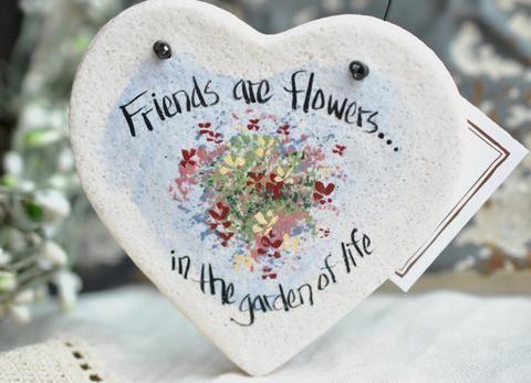 Friend Gift Salt Dough Heart Ornament