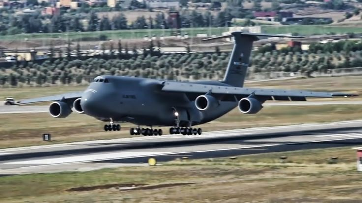USAF C-5M & C-17s Land At Incirlik Air Base In Turkey
